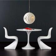 Стол обеденный круглый Тюльпан+стул Пантон